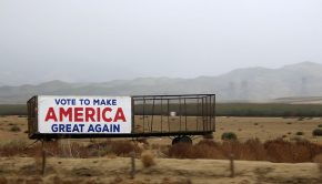 Make_America_Great_Again_outdoor_banner_on_roadside_in_California