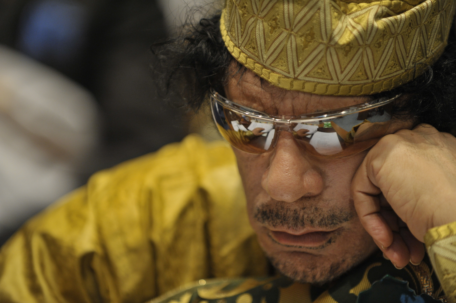 Muammar_al-Gaddafi,_12th_AU_Summit,_090202-N-0506A-324