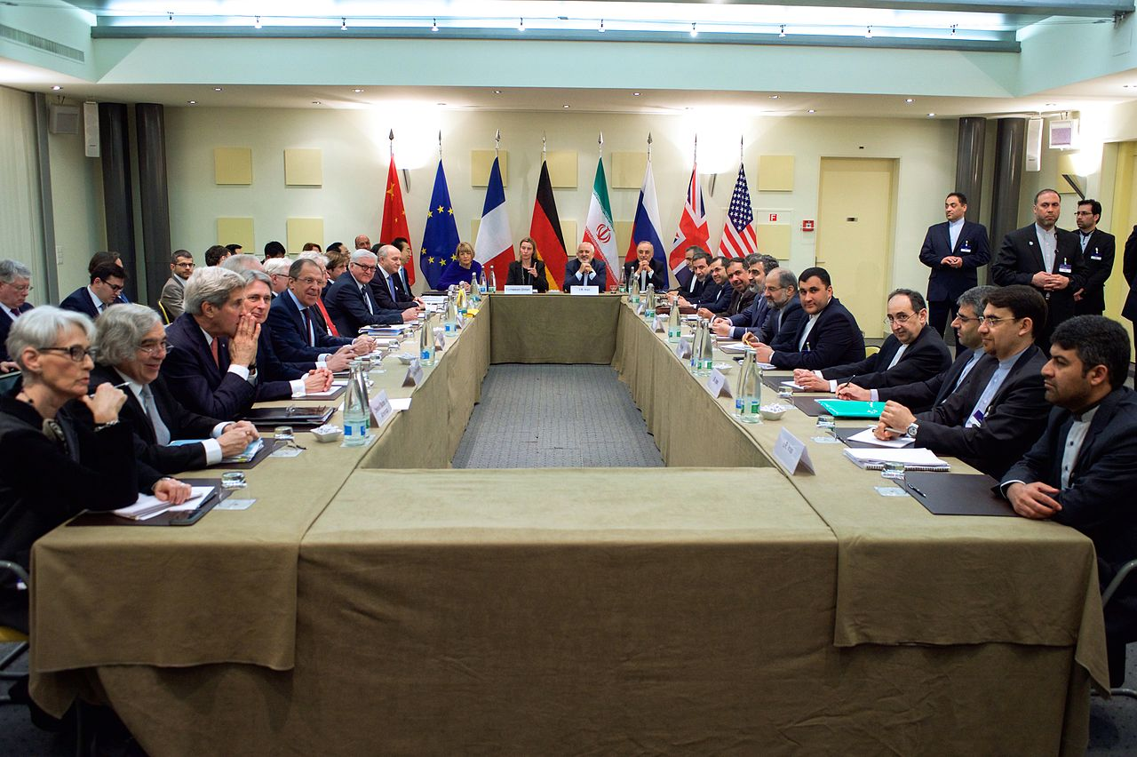 Negotiations over the Iran nuclear deal in March 2015 (U.S. Department of State via Wikimedia Commons)