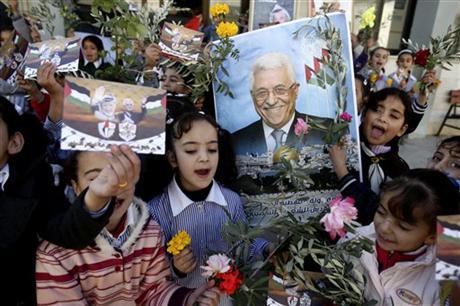 Palestinians-Celebrate-PostUNBid