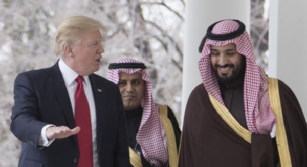 Donald Trump with Saudi Crown Prince Mohammad bin Salman
