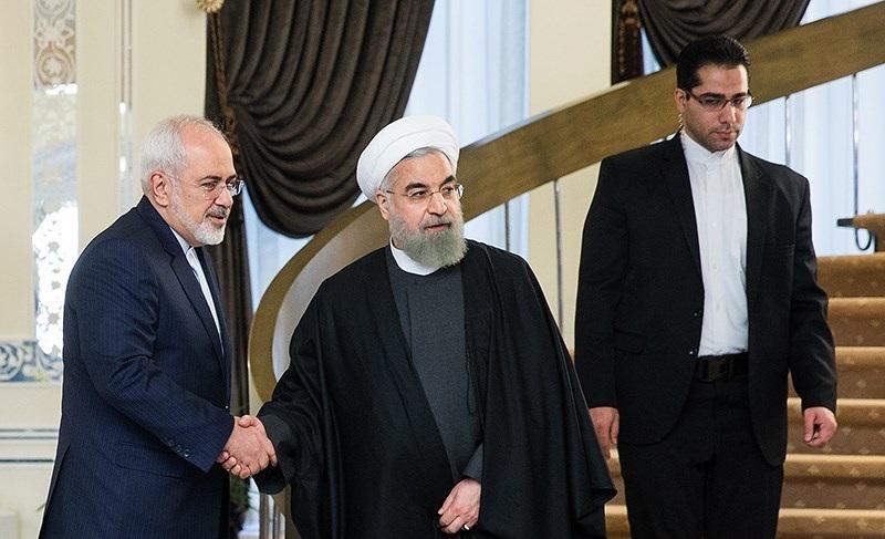 Javad Zarif and Hassan Rouhani (Wikimedia Commons)