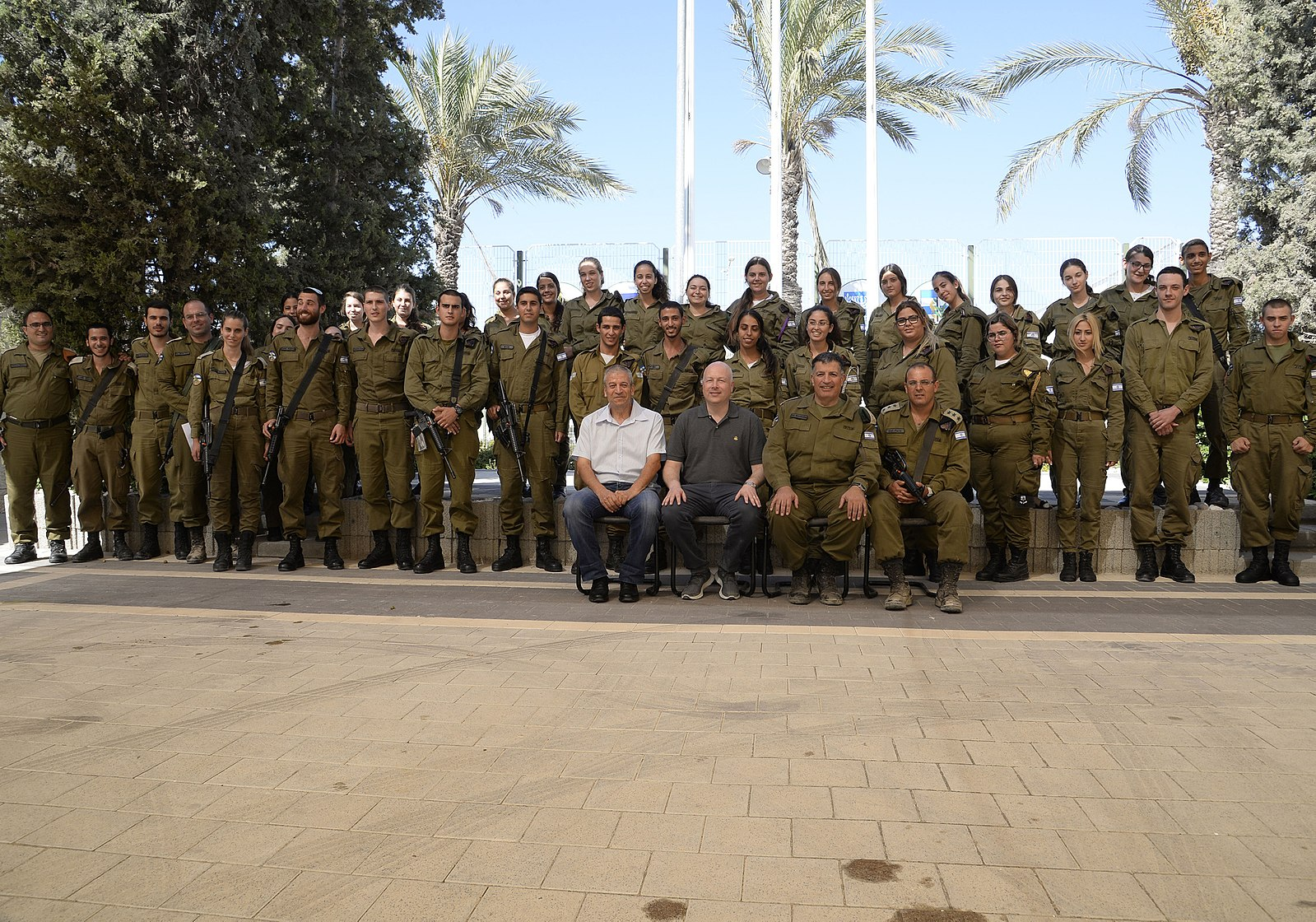 U.S. Special Representative for International Negotiations Jason Greenblatt (front row, center) touring Israel in August 2017 (Wikimedia Commons)