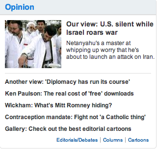 USA Today Iran Debate