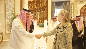 Secretary_Clinton_Is_Greeted_By_Saudi_Foreign_Affairs_Minister_Prince_Saud_al-Faisal