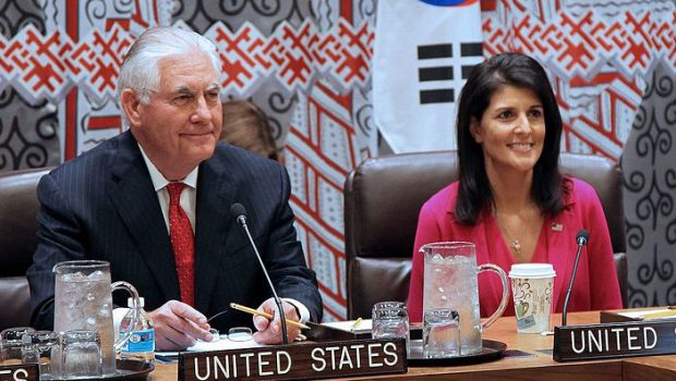 Secretary_Tillerson_and_Ambassador_Haley_Meet_With_Korean_Foreign_Minister_Yun_and_Japanese_Foreign_Minister_Kishida_in_New_York_City_(33939060390)