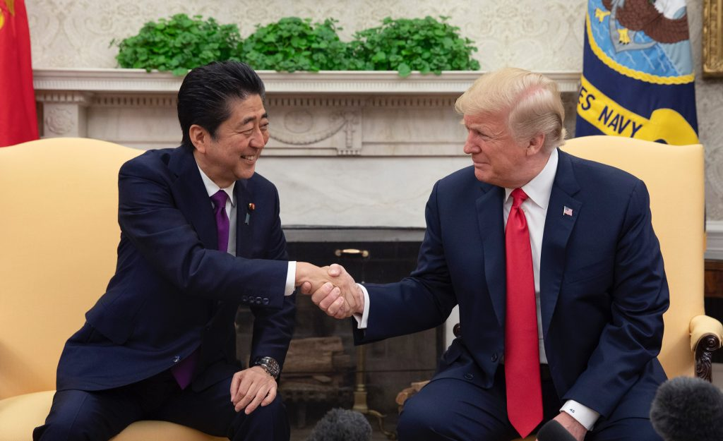 Japanese Prime Minister Shinzo Abe and Donald Trump (Wikimedia Commons)