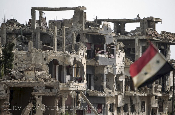 Syria-Flag-Building