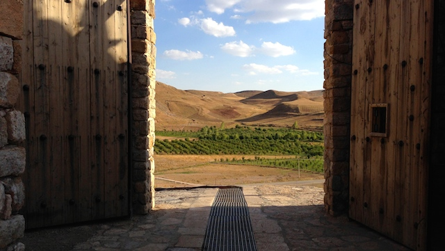 The doors at Takt-e Soileman, Iran. Photo by Monica Byrne.