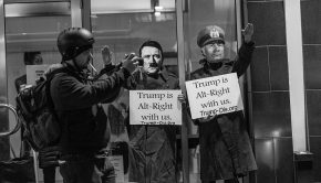 Trump_is_Alt-Right_with_us._A_protest_group_(I_think)_(32420565055)