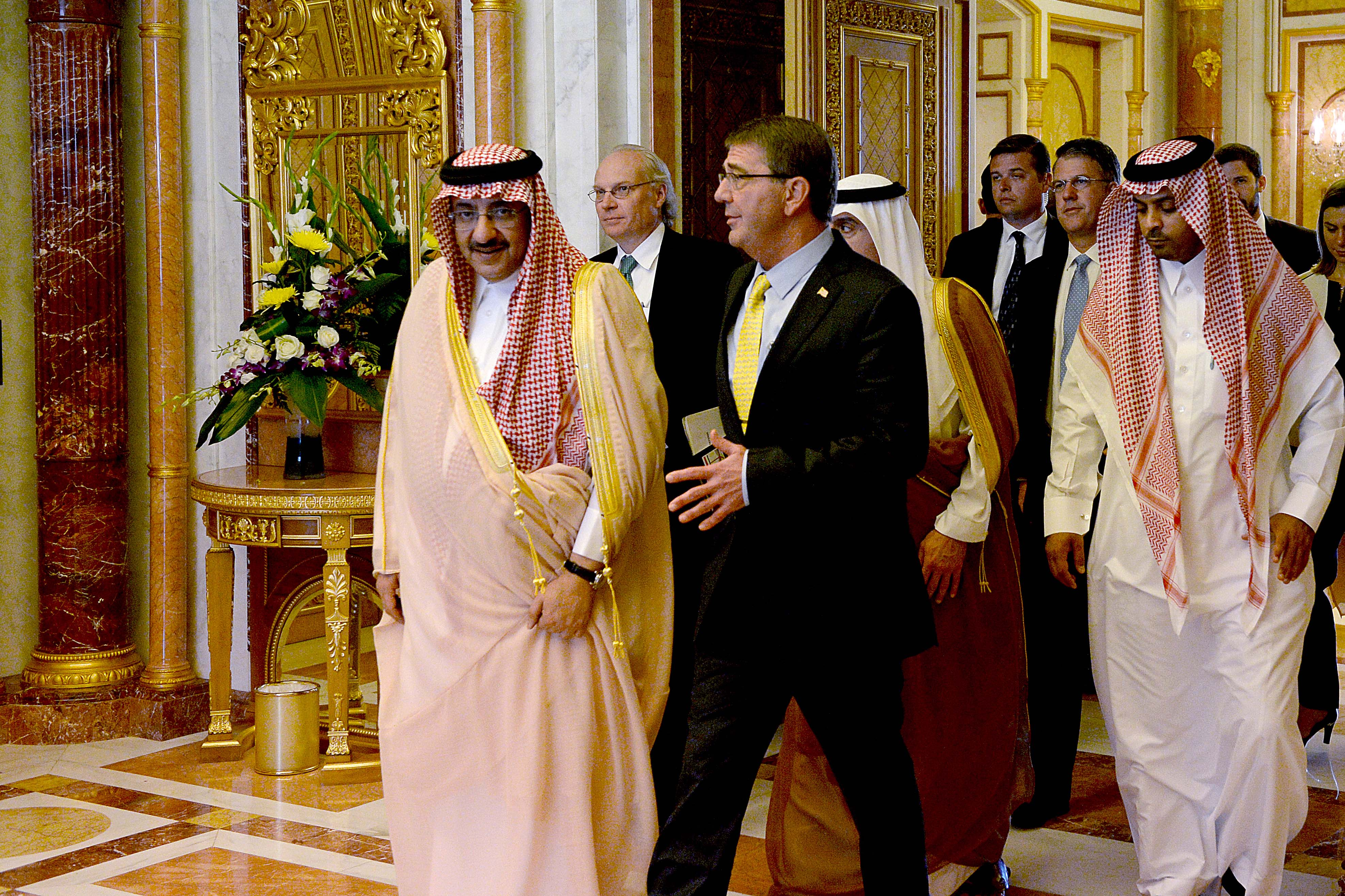 Secretary of Defense Ash Carter meets with King Salman Abdulaziz on July 22, 2015.Carter and The King of Saudi Arabia meets to discuss issues of importance. (DoD photo by U.S. Army Sgt. 1st Class Clydell Kinchen) (Released)