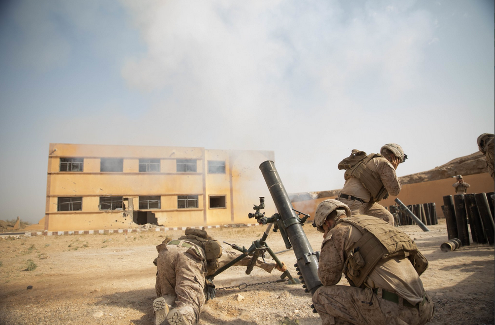 U.S. Marines engaged in anti-IS operations in Syria's Deir Ezzor province, October 2018 (Wikimedia Commons)