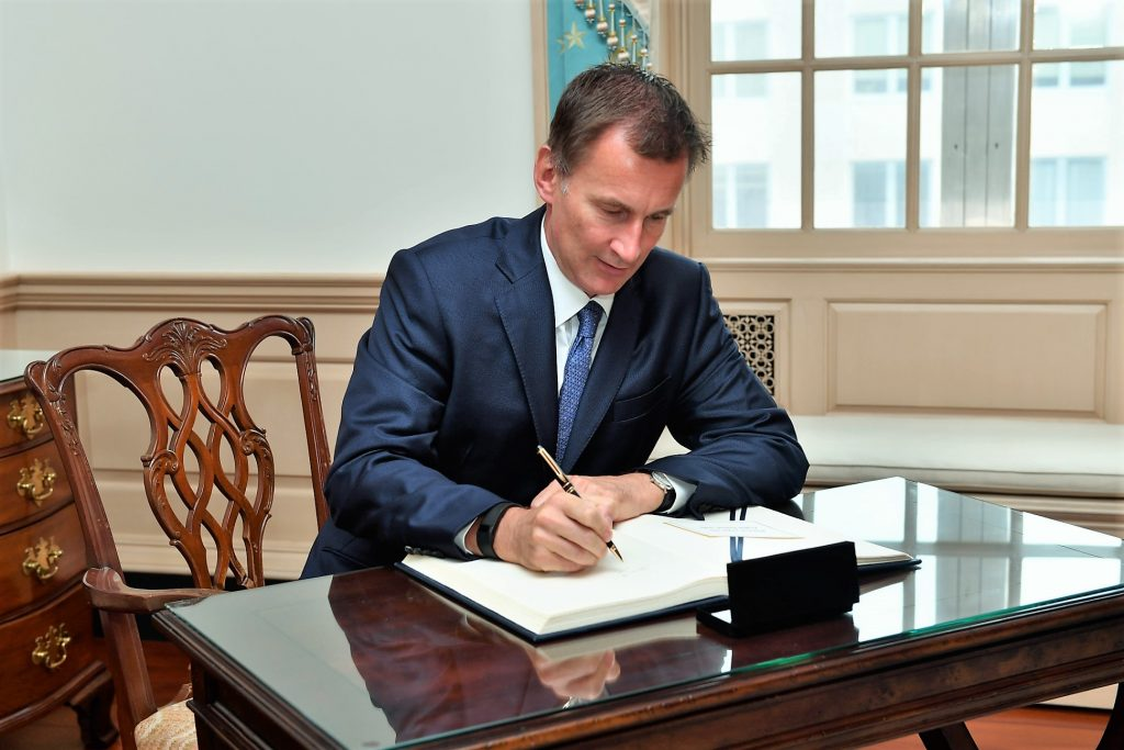 UK Foreign Secretary Jeremy Hunt (Wikimedia Commons)
