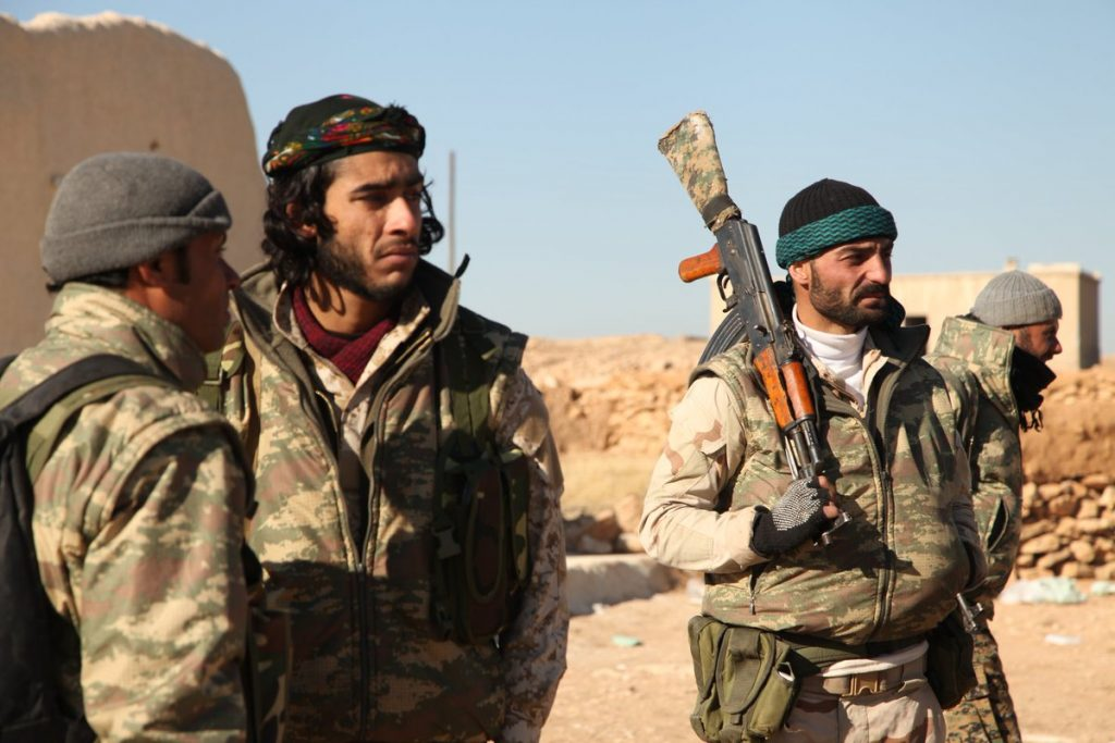 YPG fighters in Raqqa in 2016