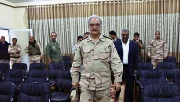 Retired Libyan Army general Khalifa Haftar