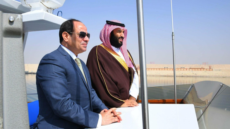 Abdel Fatah el-Sisi of Egypt and Mohammed bin Salman of Saudi Arabia