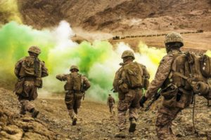 U.S. Marines in live-fire training in Jordan (Department of Defense)