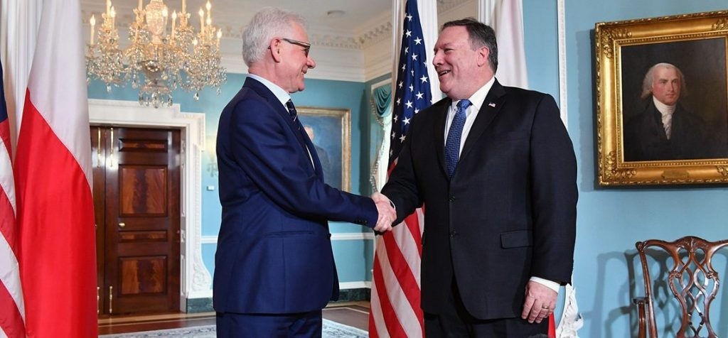 Polish Foreign Minister Jacek Czaputowicz and Secretary of State Mike Pompeo (U.S. Embassy Poland)