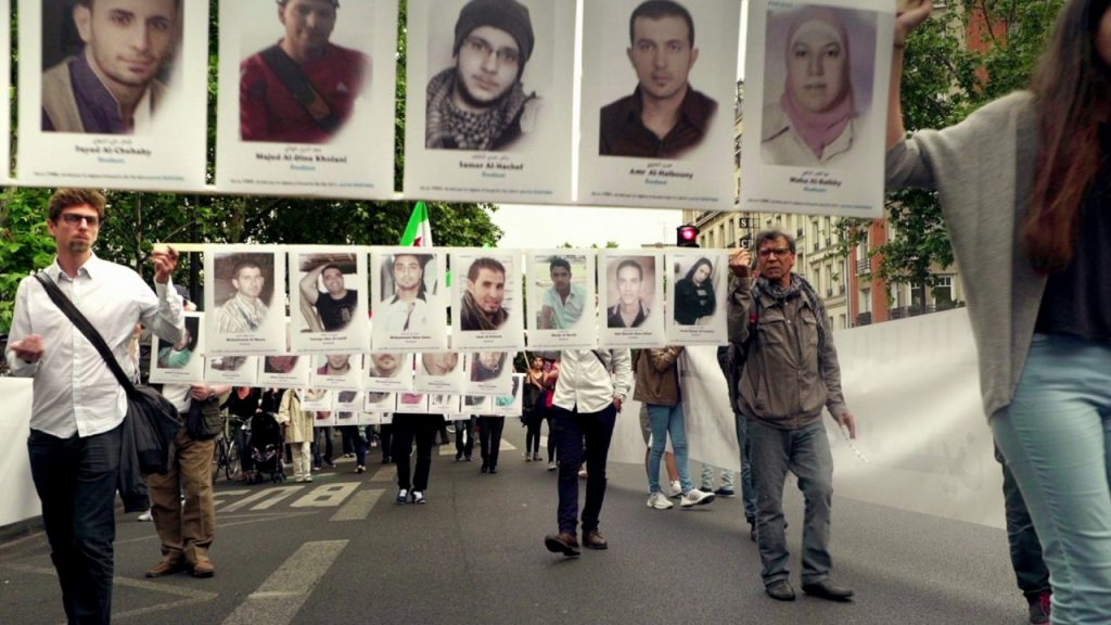 A still from the movie Syria's Disappeared