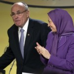 MEK leader Maryam Rajavi and Trump adviser Rudy Giuliani