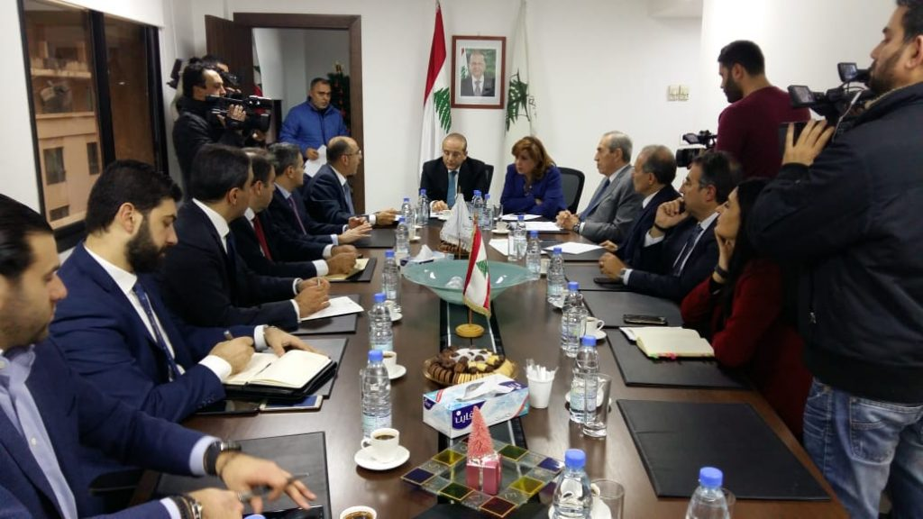 Minister of Economy and Trade, Raed Khoury, presides over preparatory meeting for the Arab Economic and Social Development Summit (Government of Lebanon)