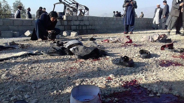 Aftermath of a suicide bombing in Jalalabad