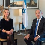 Benjamin Netanyahu, on the right, and Federica Mogherini
