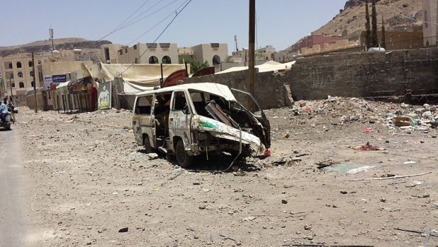 sanaa after airstrike