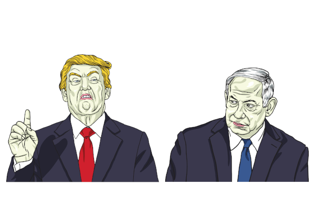 Donald Trump and Benjamin Netanyahu (doamama via Shutterstock)