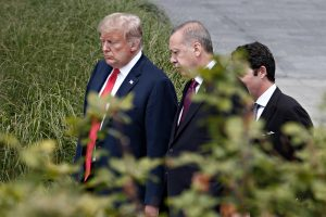 Donald Trump and Recep Tayyip Erdogan (Alexandros Michailidis /via Shutterstock)