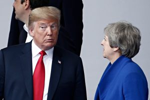 Donald Trump and Theresa May (Alexandros Michailidis via Shutterstock)