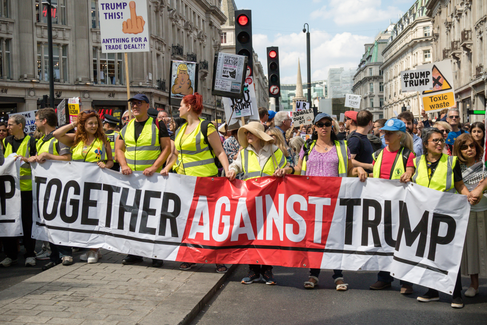 Protest in London in July 2018 (Shutterstock)