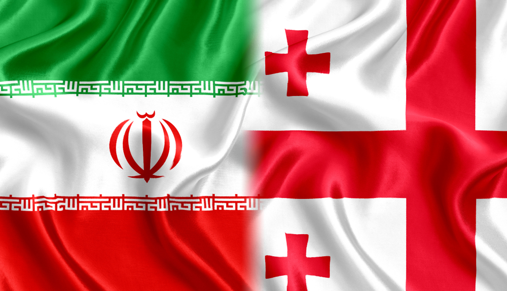 The Iranian and Georgian flags