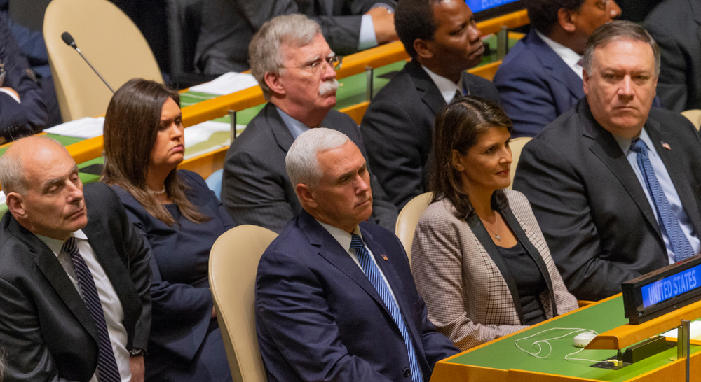 The Trump foreign policy team at the UN (lev radin via Shutterstock)