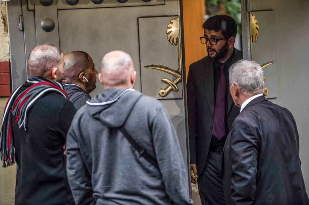 Outside the Saudi embassy in Istanbul (quetions123 via Shutterstock)