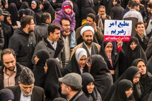 Annual Revolution day manifestation inf Esfahan, 2016 (Emanuele Mazzoni Photo via Shutterstock)