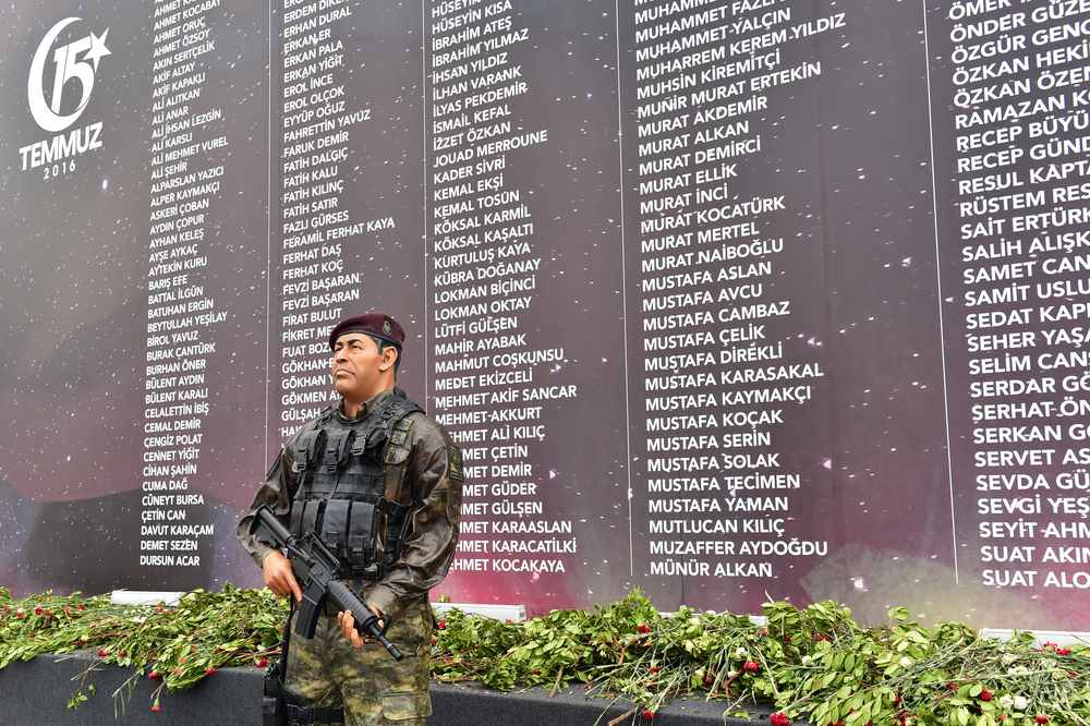 Memorial to the victims of the July 15 coup attempt (Thomas Koch via Shutterstock)